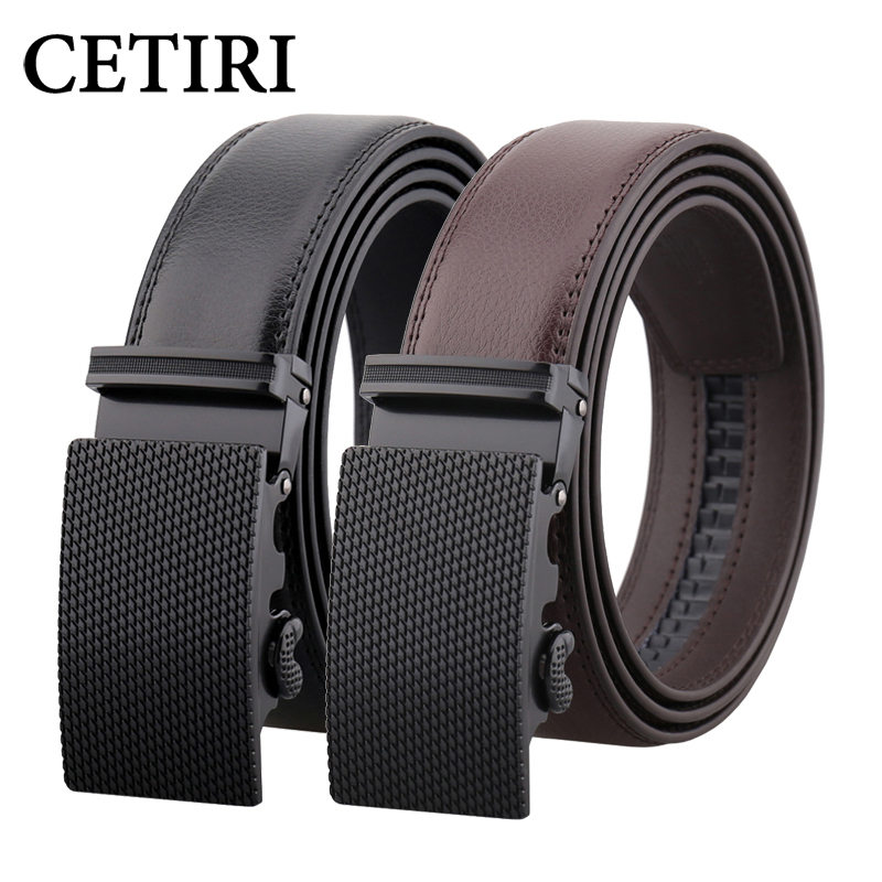 CETIRI fashion men's automatic casual   belt   for jeans male luxury genuine leather no holes   belts   for men adjustable   belt   straps