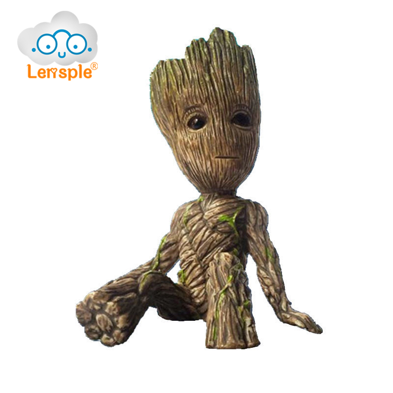 Lensple 6cm Sitting Ver Groot PVC Action Figure Guardians of the Galaxy 2 Tree Man Baby Model Toy Desk Decoration Gifts For Kid new arrivals hote cute guardians of the galaxy 2 groot statue figure collectible model toy 9 types children gifts