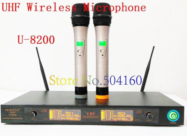 Système de Microphone sans fil professionnel UHF U-8200 pour karaoké à domicile