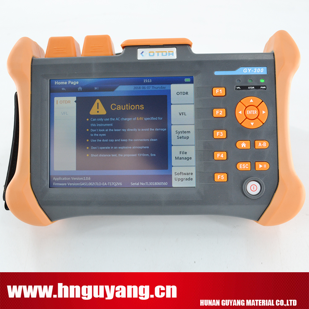 GUYANG GY300B 5.6inch touchscreen Optical Time Domain Reflectometer 120km OTDR 1310/1550nm 32/30DB with VFL