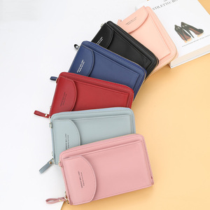 2020 New Women Casual Wallet Brand Cell Phone Wallet Big Card Holders Wallet Handbag Purse Clutch Messenger Shoulder Straps Bag(China)