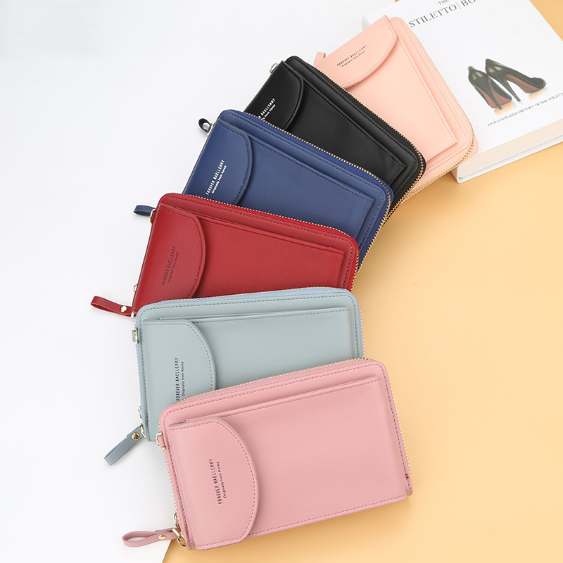 2020 New Women Casual Wallet Brand Cell Phone Wallet Big Card Holders Wallet Handbag Purse Clutch Messenger Shoulder Straps Bag