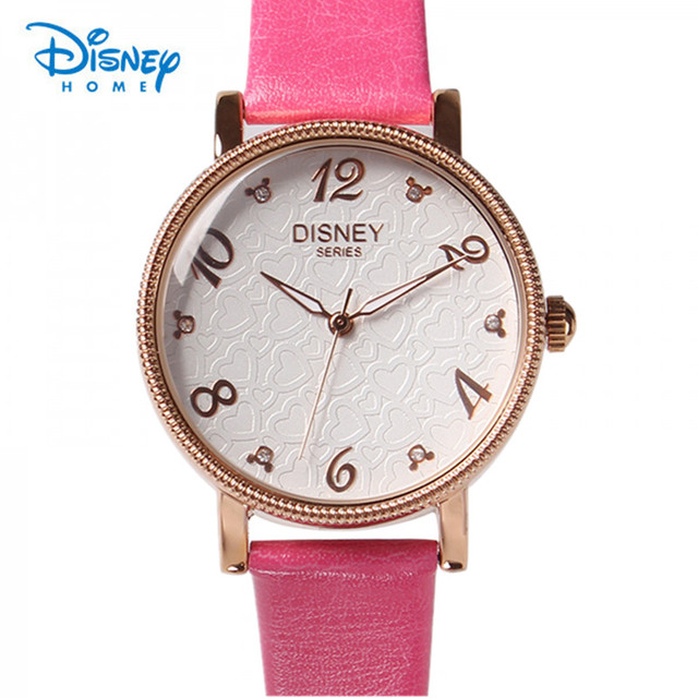 100% Genuine Disney Brand Men Women Watches Luxury Watch Fashion Casual Watch Quartz Watch Female Clock Relojes Masculino Mujer