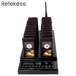 Retekess T112 999 Canali Wireless di Paging del Sistema di Accodamento Cercapersone Ristorante 1 Trasmettitore + 20 Cercapersone Montagne Attrezzature Ristorante