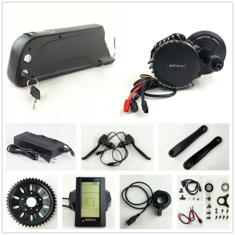 цена на US EU No Tax Bafang/8Fun BBS03/BBSHD 48V 1000W mid drive electric bike kit with 48V 11.6Ah dolphin Li-ion down tube battery