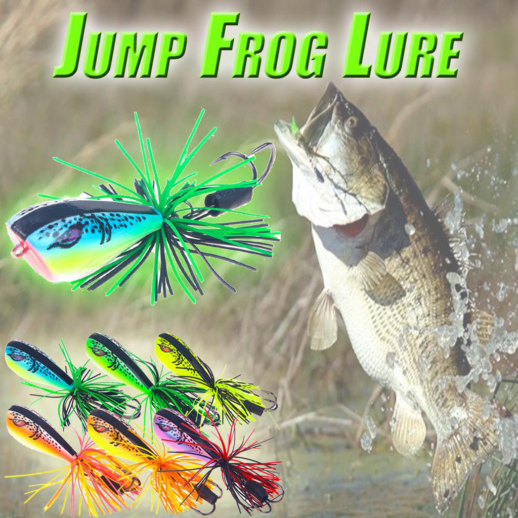 2019 Jumping Lure Topwater Lure 90mm 10g Double Strong Hook Jump Action 5.5cm fishing bait bionic frog sea fishing new 517