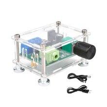 Aiyima usb5v 3 w + 3 canal duplo estéreo amplificador de áudio digital potência fone ouvido amp board com caso diy para sistema de teatro em casa
