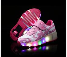 Nouveau Enfant Jazzy roue Junior Filles/Garçons LED Lumière de roue Patin À Roulettes Enfants Chaussures Enfants Sneakers Étoiles Avec Unique roues Xi
