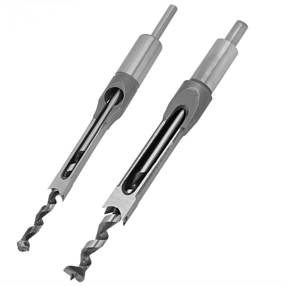 6/8/10/12/16mm Square Hole Mortiser Drill Bit Mortising Chisel Woodworking Electric Drill Tools