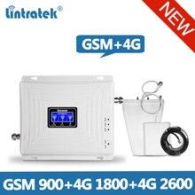 Lintratek 1800 2600 4G Repeater GSM 900 Triband Tăng Cường Tín Hiệu GSM 900 LTE Tăng Áp 1800 4G 2600 Tín Hiệu bộ Khuếch Đại Toàn Bộ
