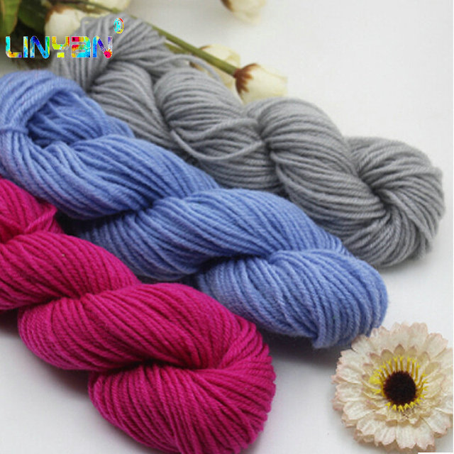 5 Pieces35g Wholesale Acrylic Crochet Yarn Thread To Knit Baby