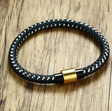 Высококачественный модный мужской браслет с магнитной пряжкой