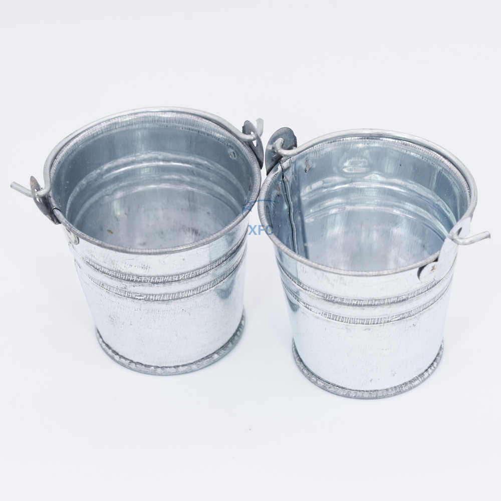 2pcs Steel Small Bucket For RC 1/10 RC4WD Axial SCX10 TAMIYA D90 D110 CC01 Off Road Rock Crawler Car Accessory