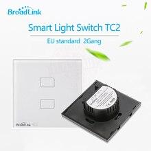 TC2 Broadlink teléfono Estándar de LA UE 2 Gang Control Remoto Inalámbrico Interruptor de La Luz a través de broadlink rm2 profesional, Inteligente Domótica