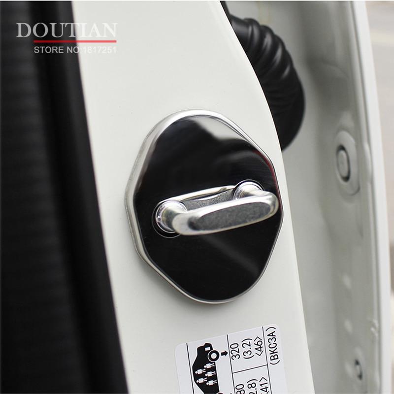 NEW 3D Stainless Steel Kunci Pintu Gesper Perlindungan Pelindung - Suku cadang mobil - Foto 4