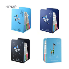 HKYSHP 2 шт./пара, Корейская версия яркого металлического железа, большие книжные концы для студентов, милый мультфильм, книжный стенд, школьные офисные принадлежности