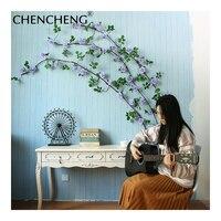 3 메터 큰 길이 웨딩 꽃 포도 나무 인공 16 꽃 장미 웨딩 호텔 연구 장식 파티 CHENCHENG