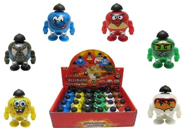 Cartoon robot rotating spinning top bouncing spinning top music spinning top ricocheting spinning top light emitting 53