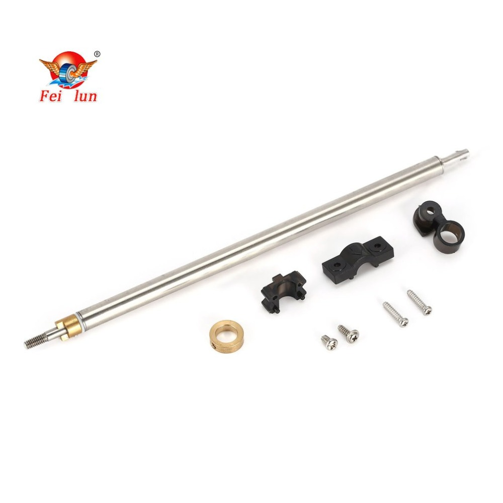 FT011-12 Steel Tube Pipe Assembly Metal Shaft Spare Parts Component for Feilun FT011 RC Boat Ship Speedboat Accessories hz