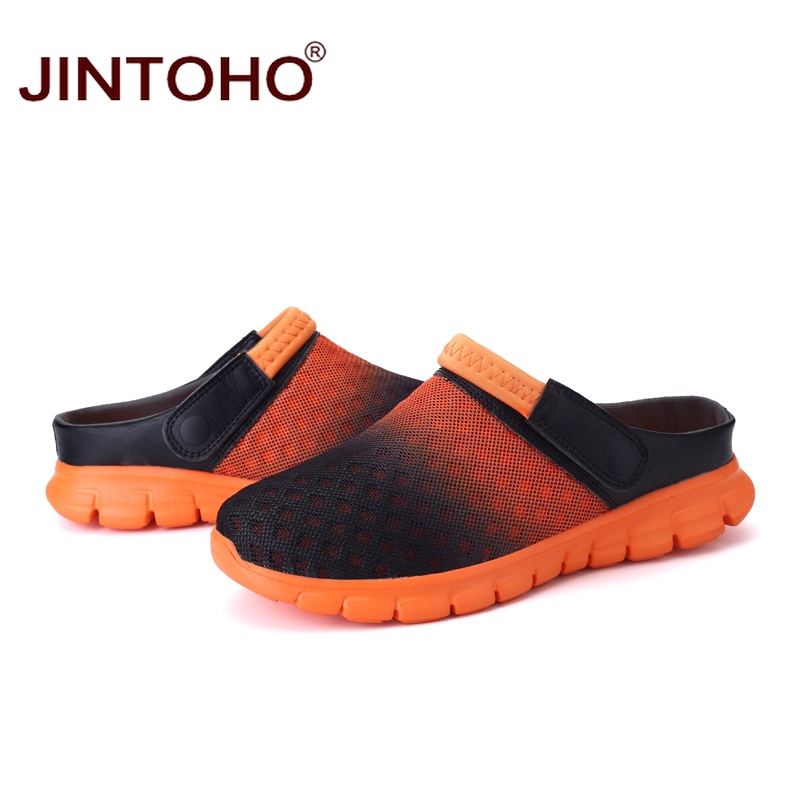 eccb9e9620f3a JINTOHO Summer Men Sandals Breathable Mesh Male Sandal Summer Beach ...
