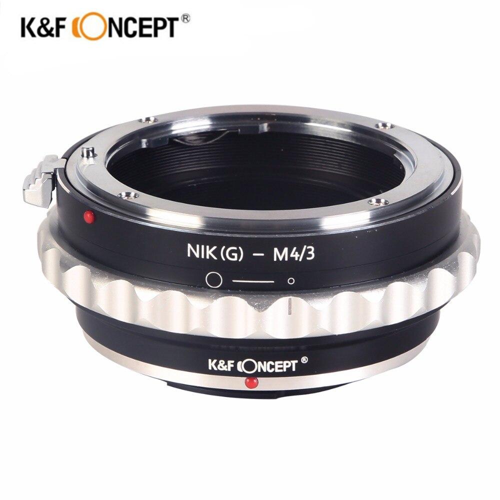 K & F Concept AI (G) -M4/3 Camera Lens Mount Adapter Pour Nikon G AF-S F Lens pour Micro 4/3 M4/3 mount Adapter Pour GF2 GF3 G2 G3 GH2