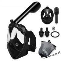 Scuba Tauchen Maske Volle Gesicht Schnorcheln Maske Anti Nebel Unterwasser Schnorchel Maske für Schnorchel Schwimmen Tauchen Ausrüstung Männer Frauen