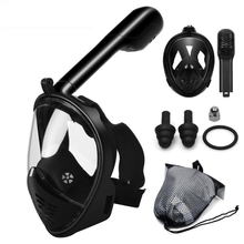 купить Scuba Diving Mask Full Face Snorkeling Mask Anti Fog Underwater Snorkel Mask for Snorkel Swimming Diving Equipment Men Women дешево