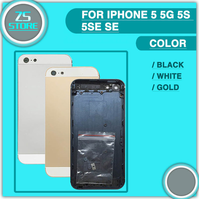 a5b6048874 For iphone 5G 5S 5SE Back Housing For Apple iphone 5 S SE Back Battery Cover  Rear Door Housing Case Middle Chassis Replacement