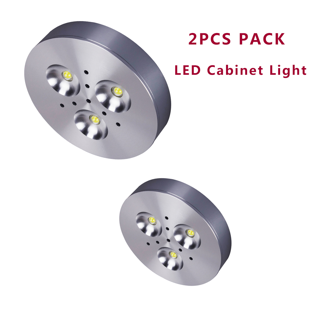 tsunrise 2pcs pack led under cabinet light led puck lights 3000k 5000k kitchen under - Led Puck Lights