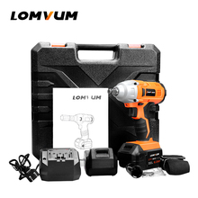 Bezramowe LOMVUM Klucz Klucz Udarowy śrubokręt Elektryczne wiertarka Akumulatorowa