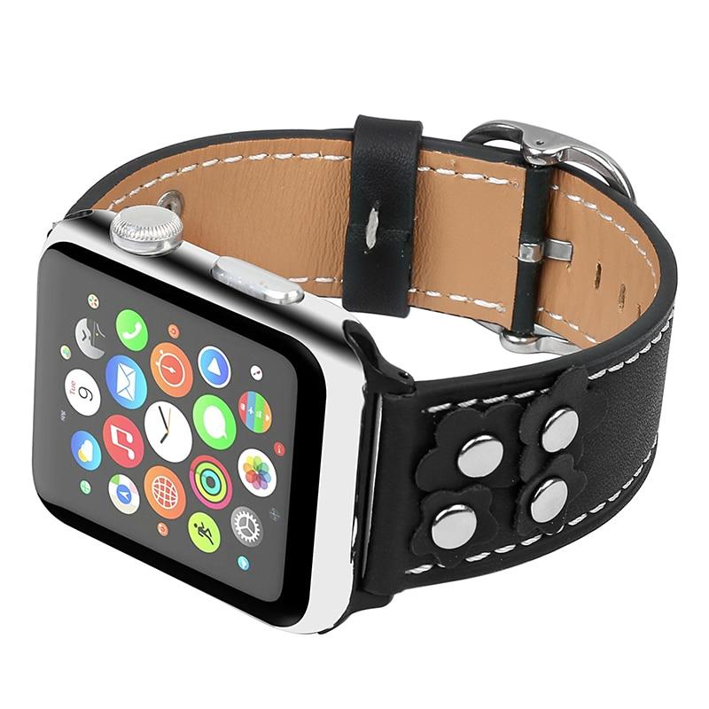 Bucle de cuero genuino FOHUAS para Apple Watch 5 bandas 44 mm 42 mm - Accesorios para relojes - foto 6