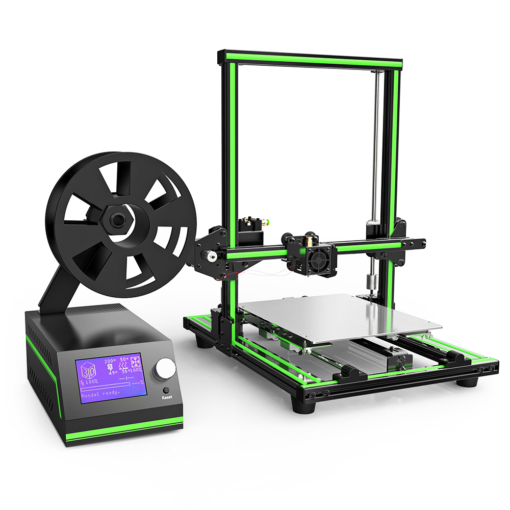 Anet E10 Aluminum Frame Multi-language 3D Printer DIY Set with LCD Screen Support TF Card Off-line Printing Windows Mac System anet a2 high precision desktop plus 3d printer lcd screen aluminum alloy frame reprap prusa i3 with 8gb sd card 3d diy printing