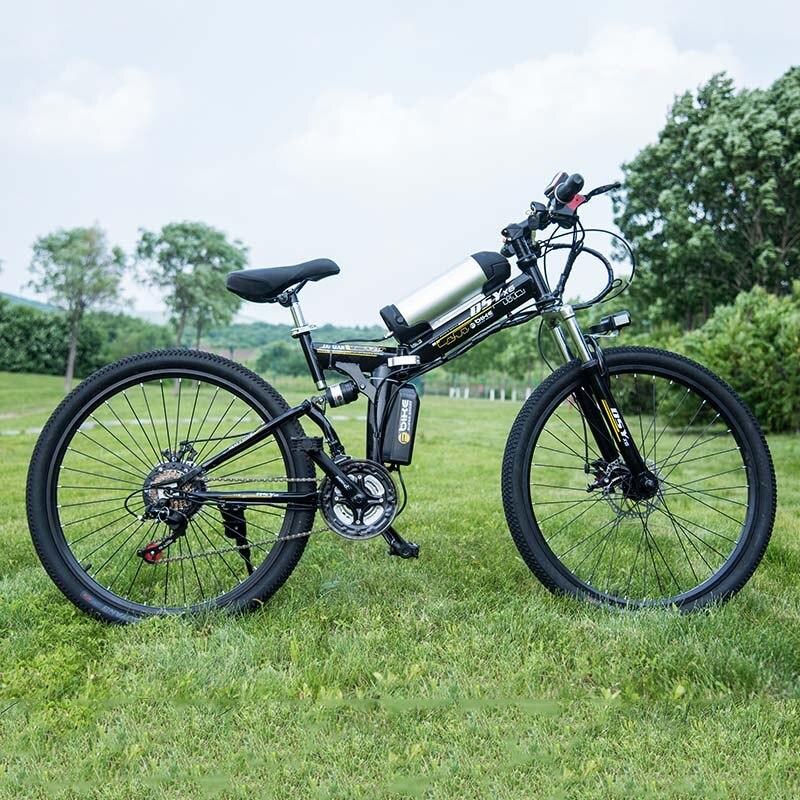 26 pollice Bicicletta Elettrica 36 V Batteria Al Litio 10.8ah Electric Mountain Bike 350 W Motor Pieghevole EBike potente Bici Elettrica