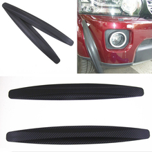 2Pieces Durable 269C Car Carbon Fiber Protector Anti Crash Bumper Guard Strip Sticker Accidente de coche bar accident de voiture