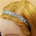 12 unids/lote Blingbling Elásticos de Las Mujeres brillantes de la vendimia Rhinestone de La Venda de lujo retro Hairband Venda Del Pelo de Accesorios al por mayor
