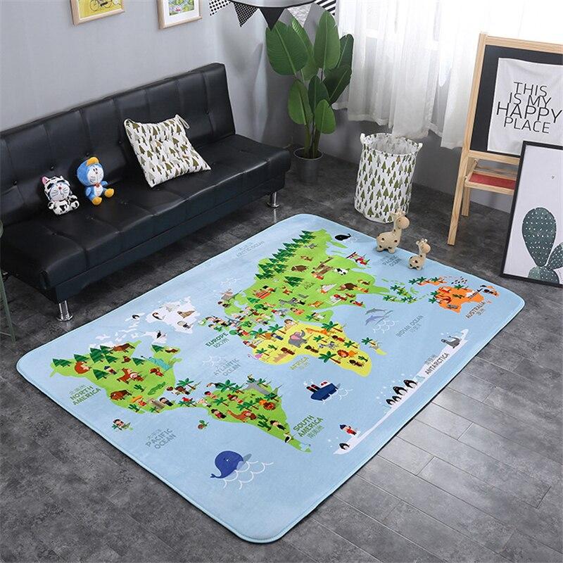 criança rastejando cobertor tapete nórdico sala de crianças decoração para casa