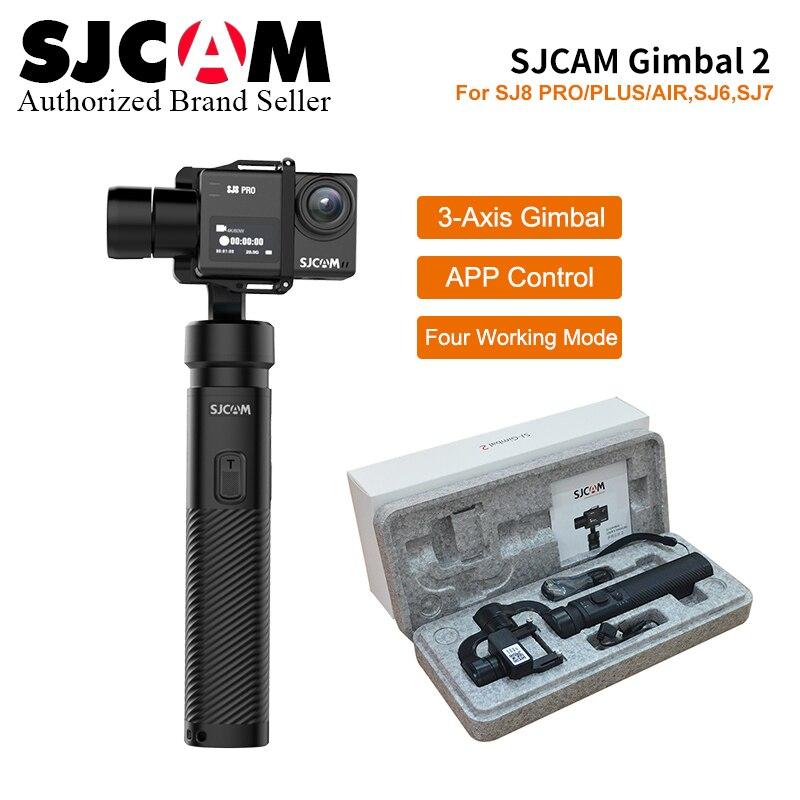 Atualização SJCAM Acessórios 2 3-Eixo Cardan Estabilizador Handheld Para SJCAM SJ8 Pro Series SJ 7 ESTRELA SJ6 lenda câmera de Ação esporte