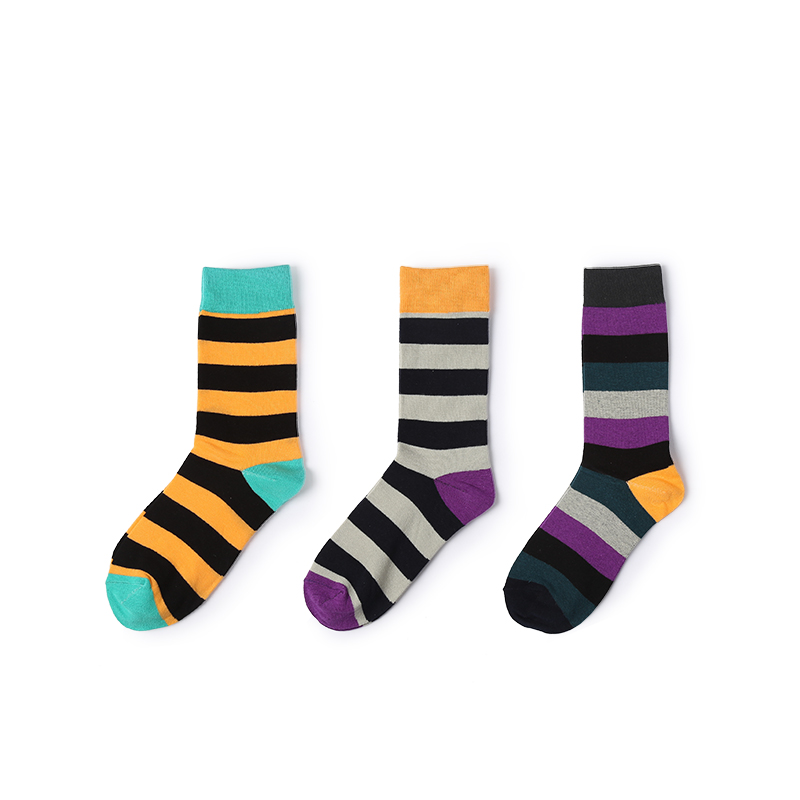VVQI compression socks fashion hip hop mens socks beautiful color cheap striped Rainbow cool summer high socks men tide brand