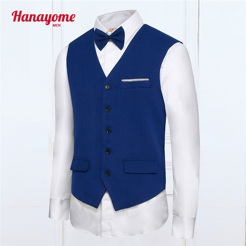 New Arrival Man Suit Vest Man Business Party Groom Slim Fit Waistcoat Man Formal England Style Dress Vest Gilet Homme