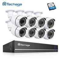 Techage 8CH 1080 P HDMI DVR видеонаблюдения Системы 8 шт 2.0MP HD IR CUT уличная Водонепроницаемая AHD камера P2P видео набор для наблюдения