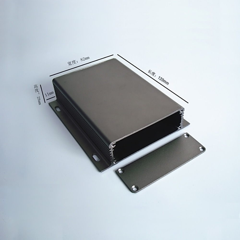 Aluminum enclosure 104x28x120mm Instrument PCB electronics enclosure wall mounting Project Case box DIY panel NEW цены