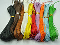 100 Meters Mixed Color Waxed Cotton Beading Cord 1mm for Bracelet Necklace 10 Strands