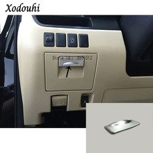 Для Toyota Highlander автомобильный Стайлинг ABS хром пилот привод крышка для хранения перчатка Коробка Чехол отделка лампы панелей, ручек 1 шт