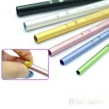 6pcs C Curve Metal Rod Sticks French Acrylic Nail Art Tips Shaping Stick Manicure Tool