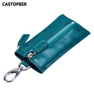 Vintage Multifunction Key Wallet Organizer Split Leather Coin Purse Men Car Key Wallets Women Cards Key Holder Housekeeper Case(China)