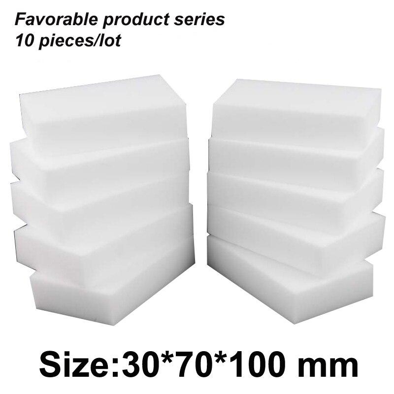 10*7*3cm Magic Clean Melamine Eraser,melamine Sponge Pad Cleaner Multi-functional Kitchen Assessoires Dish Washing Sponge Eraser(China)