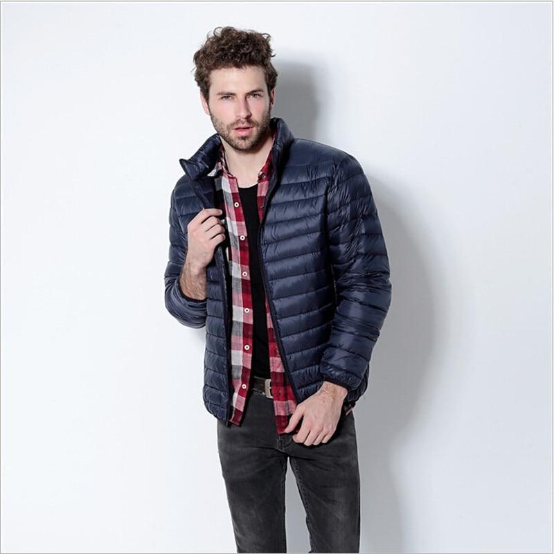 a6d54c1886be4 Artı Boyutu Kış Erkekler Ceketler Ördek Aşağı Marka Giyim Erkek Aşağı Ceket  Jaqueta De Couro Masculina Erkekler Parkı Kat Wc918