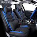 Роскошный кожаный чехол для автомобильного сиденья  (спереди и сзади)  4 сезона  для toyota RAV4 2017-2013  CH-R  2017  2016  COROLLA E120  E130  Стайлинг автомобиля
