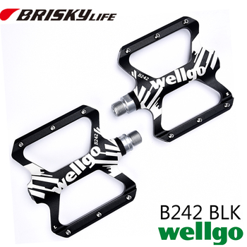 Wellgo bike pedals B242 Free shipping alloy colorful for BMX mountain bike pedal