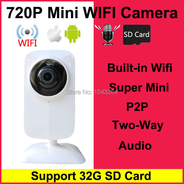 HD Mini Wifi IP Camera Wireless 720P TF SD Card P2P Baby Monitor Network CCTV Security Camera Home Protection Mobile Remote Cam крючок 3 см fbs universal хром uni 001